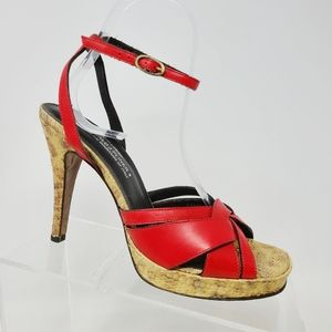 Donald J Pliner Couture Italy Made Womens 8 M Red